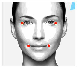 Virtual makeover step 13 please click on the outside corners of your eyes and your lips solutioingenieria Images
